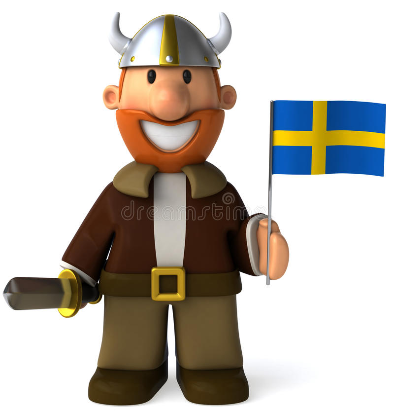 Viquingue sueco ilustração royalty free