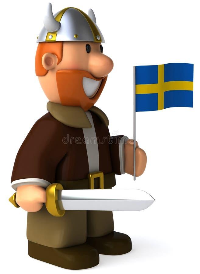Viquingue sueco ilustração stock