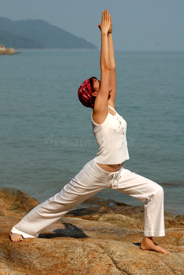Virabhadrasana photos stock