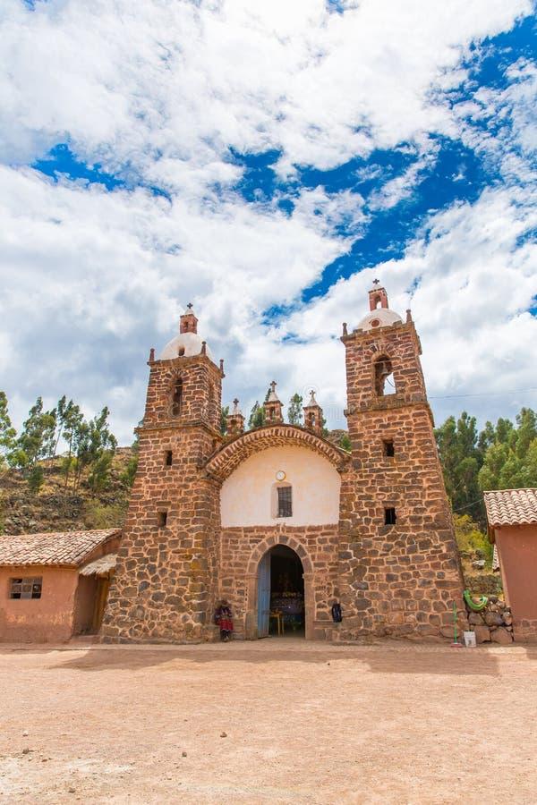 Viracocha świątynia, Cusco region, Peru przy Chacha (ruina świątynia Wiracocha) obraz royalty free