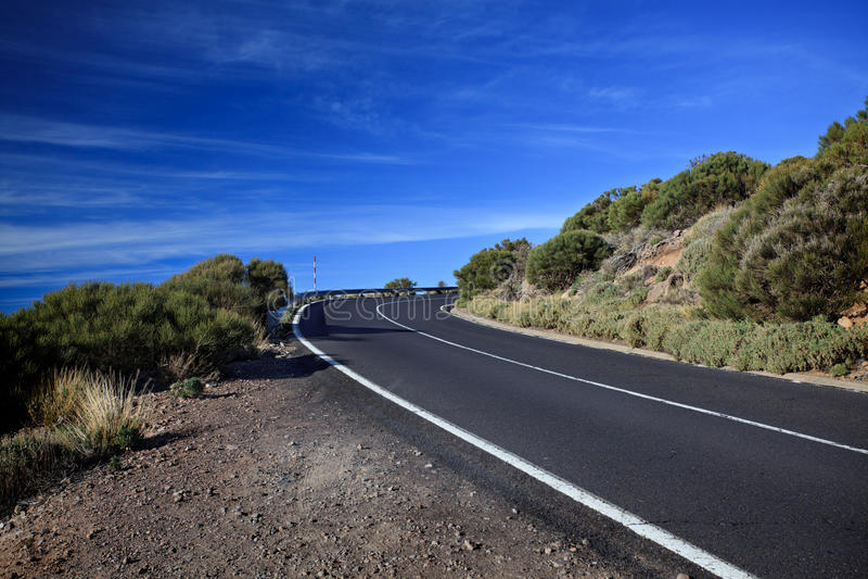 Virage de route photo libre de droits