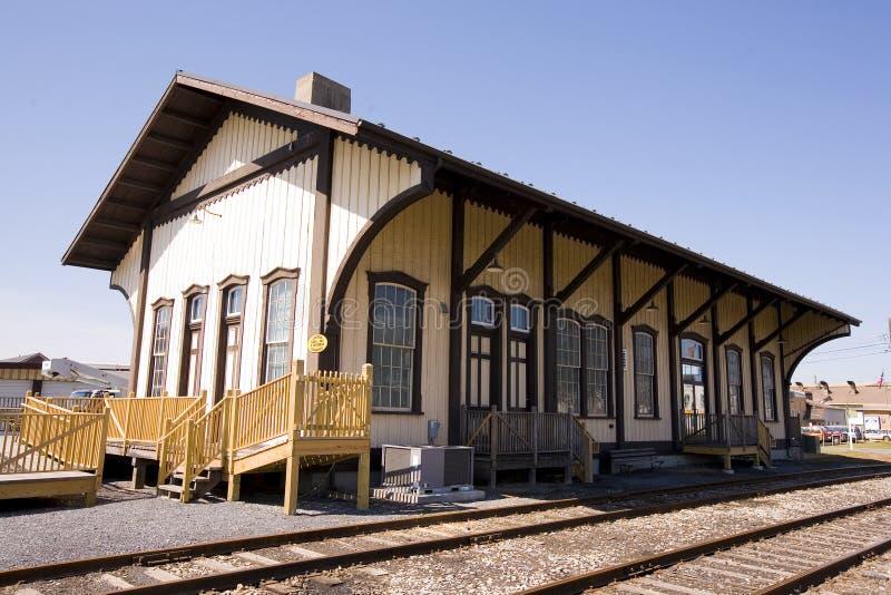 virage de train de gare de siècle photographie stock libre de droits