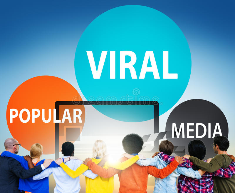 Viral Global Communications Internet Technology Concept stock images