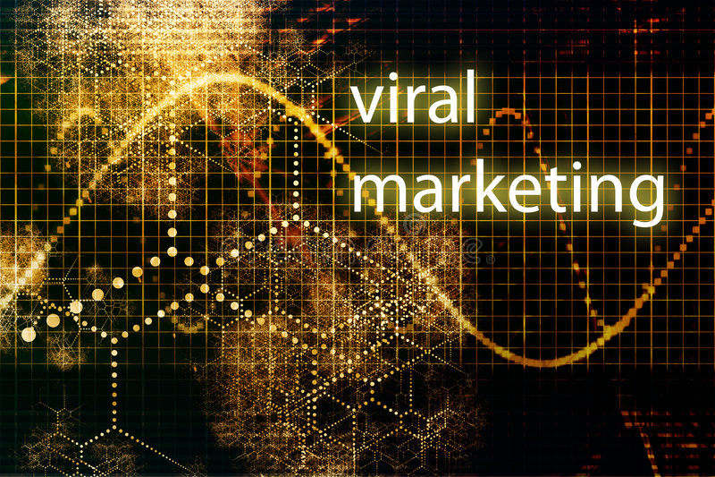 Virale Marketing royalty-vrije illustratie