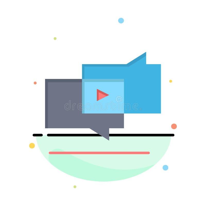 Viren, vermarktend, Virenmarketing, Digital-Geschäft Logo Template flache Farbe stock abbildung