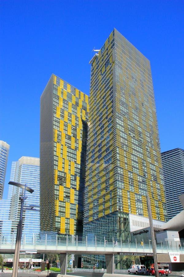 Virez les Tours jumelles à Las Vegas, Nevada, Etats-Unis photos libres de droits