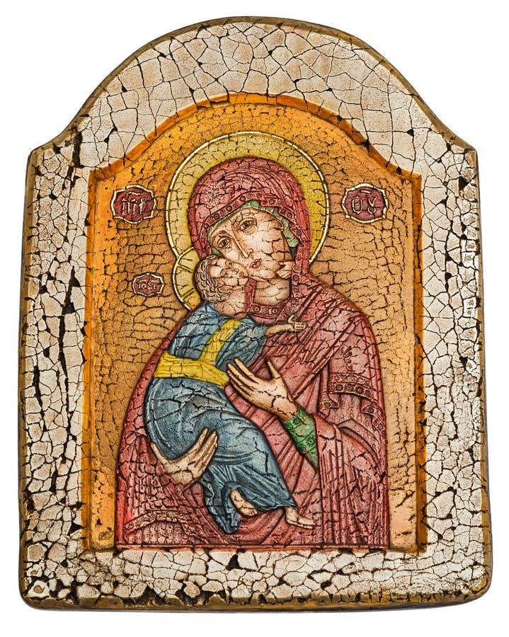 Virgem Maria e infante Jesus Christ imagens de stock royalty free