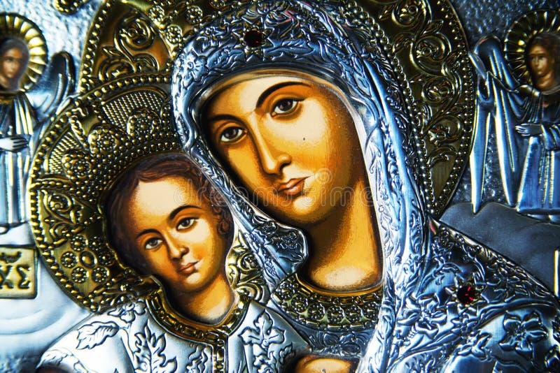 Virgem Maria e Jesus imagens de stock