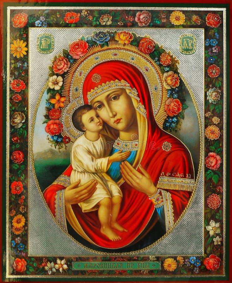 Virgem Maria e Jesus foto de stock royalty free