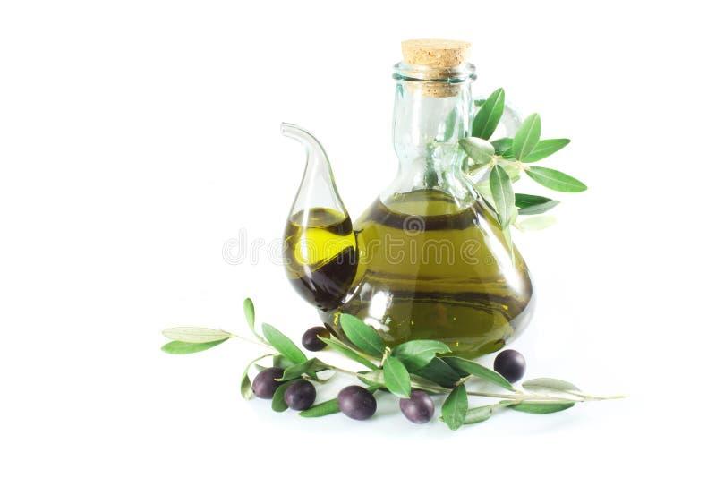 Virgen adicional del aceite de oliva fotografía de archivo