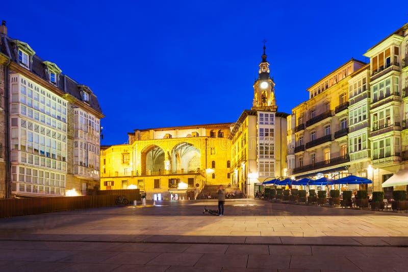 Virgen Blanca Square in Vitoria immagini stock