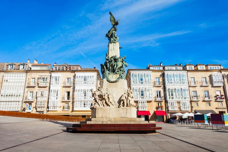 Virgen Blanca Square in vitoria-Gasteiz stock fotografie