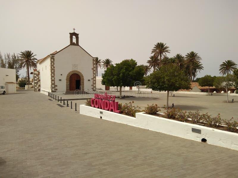 Virgen de瓜达卢佩河教会  库存照片