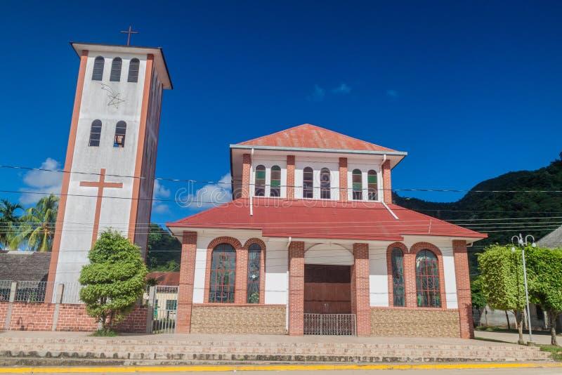Virgen de la坎德拉里亚角教会 免版税库存照片