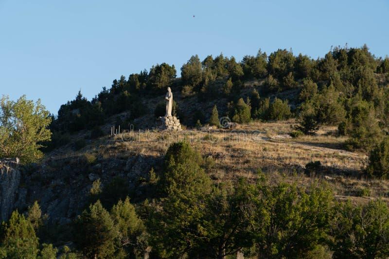 Virgen del Camino的教会 免版税库存图片