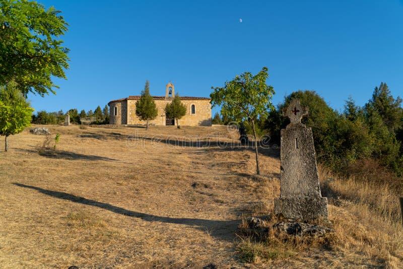 Virgen del Camino的教会 库存图片