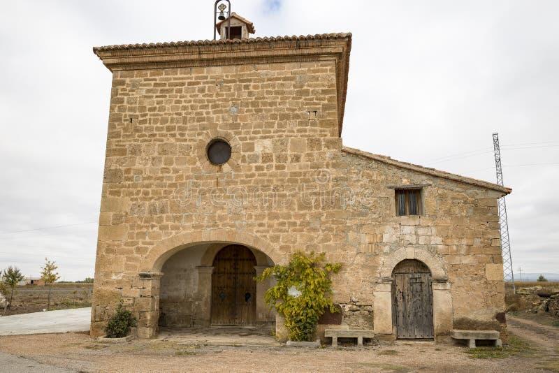 Virgen Del Morał ermitaż w el Poyo Del Cid wiosce, Teruel, Hiszpania obraz stock
