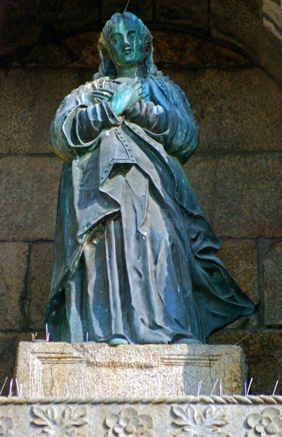 Virgen María en las ruinas del St Paul Cathedral, Macao imagen de archivo libre de regalías