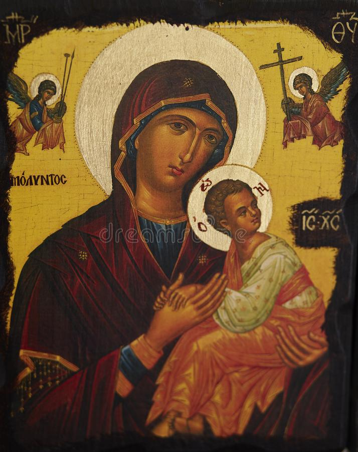 Virgen María y bebé Jesus Christ imágenes de archivo libres de regalías