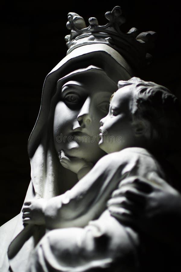 Virgen Maria y niño foto de archivo libre de regalías