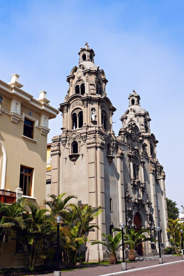 Virgen Milagrosa Church dans Miraflores photographie stock