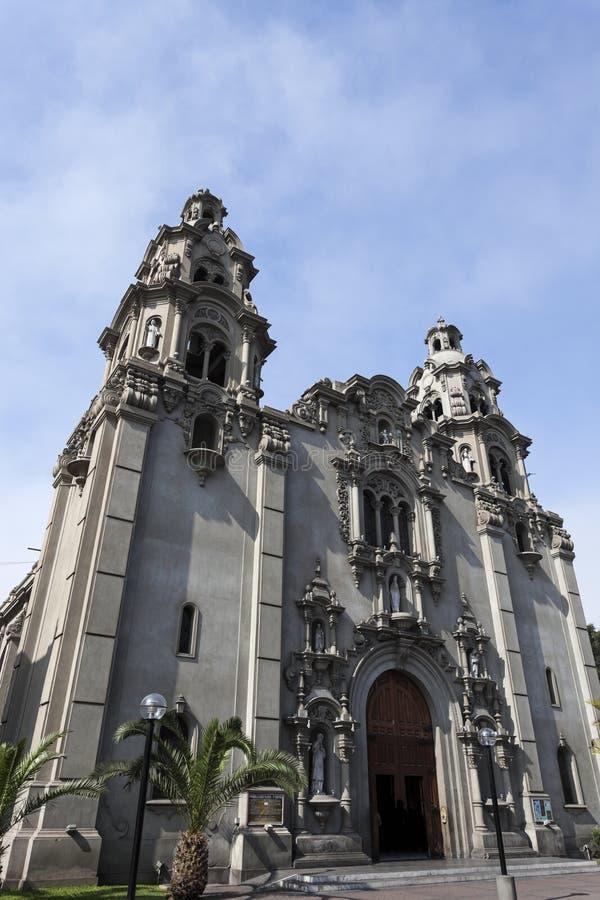 Virgen Milagrosa Church dans Miraflores, Lima image stock
