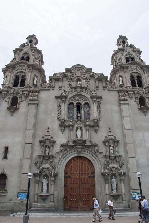 Virgen Milagrosa Church in Miraflores stock afbeelding