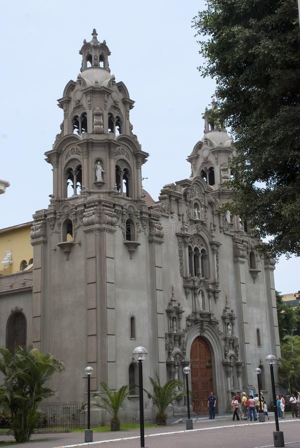 Virgen Milagrosa Church in Miraflores royalty-vrije stock afbeeldingen