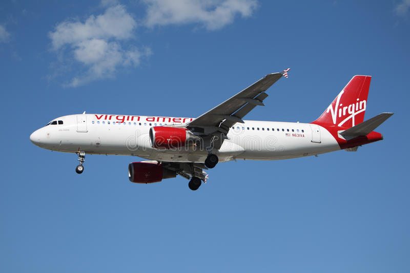 Download Virgin America Airbus A320 editorial image. Image of technology - 28927710
