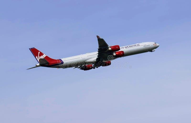 Virgin Atlantic airplane stock photos