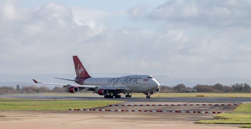 Virgin Atlantic Boeing 747 royalty-vrije stock fotografie