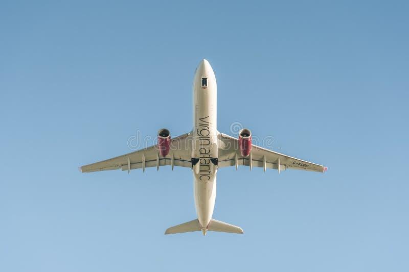 Virgin Atlantic flygbuss A330 fotografering för bildbyråer