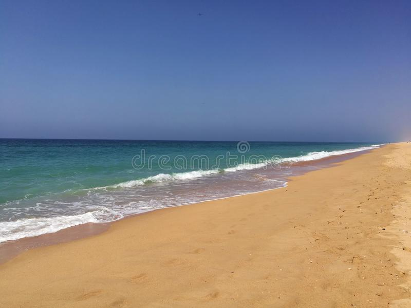 Virgin beach in Portugal on a sunny day stock photo