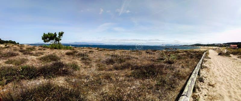 Virgin beach with skysurf team stock photography
