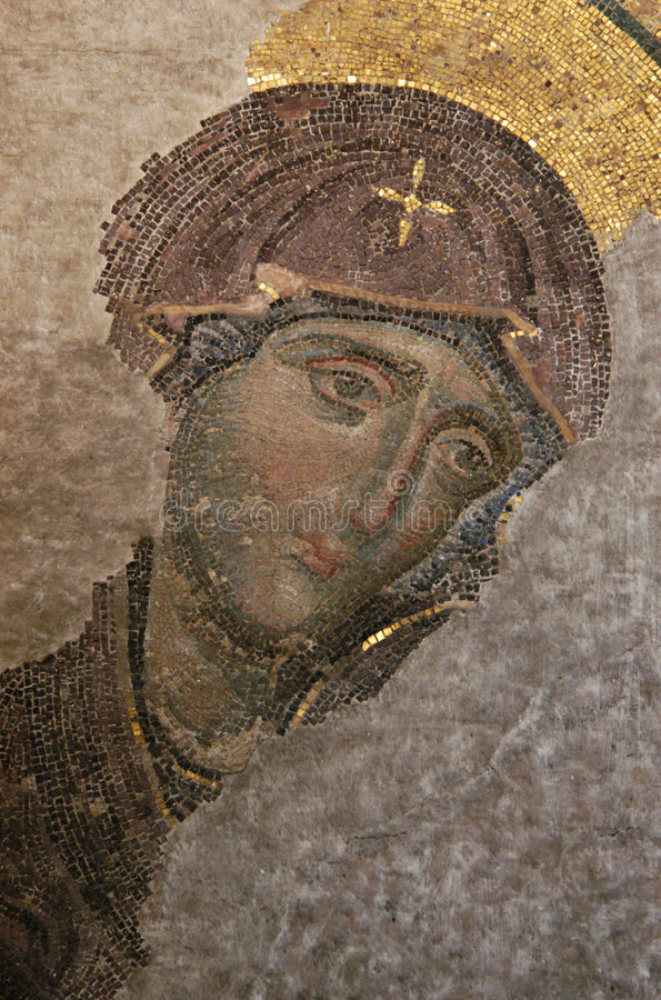 Virgin bizantino fotografie stock