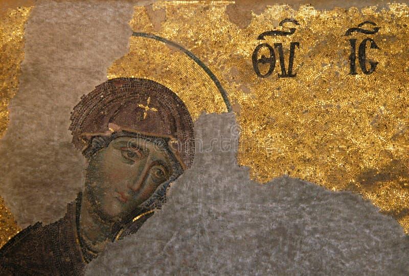 Virgin bizantino fotografia stock libera da diritti