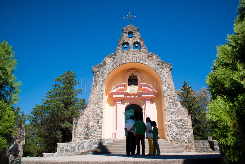 Virgin de Lourdes de Alta Gracia Iglesia fotografia de stock royalty free