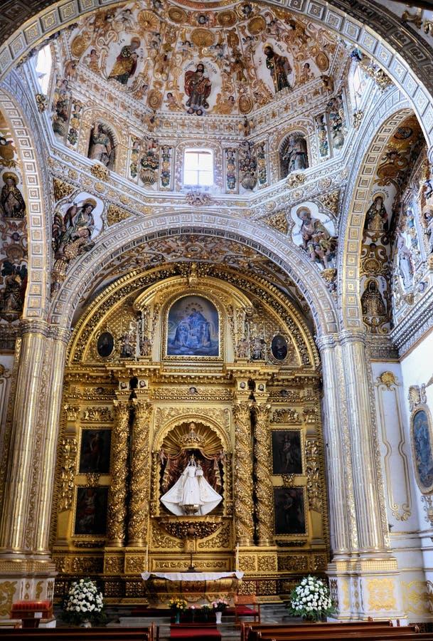 Virgin dentro da igreja de Santo Domingo, Oaxaca imagem de stock royalty free