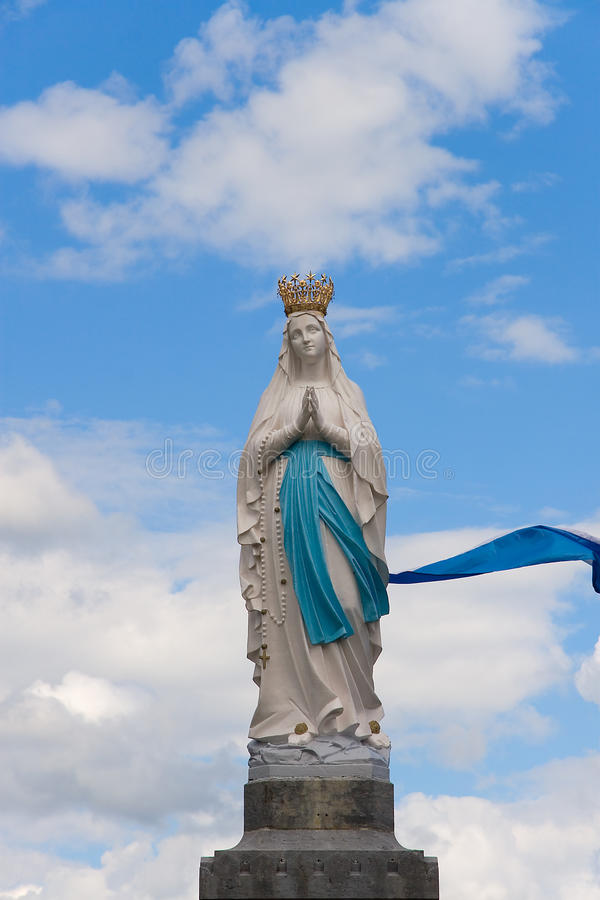 Virgin di Lourdes immagini stock libere da diritti
