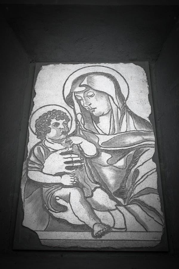 Virgin en Kind stock foto