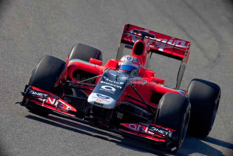 Virgin F1 da equipe, Timo Glock, 2011 fotografia de stock royalty free