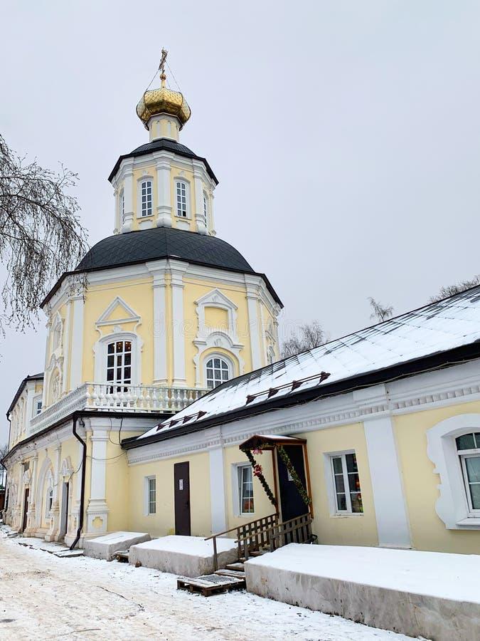 Virgin female Zhitenev Bogoroditsky Zhitenny monastery on lake Seliger. The city of Ostashkov, Tver oblast.  royalty free stock image