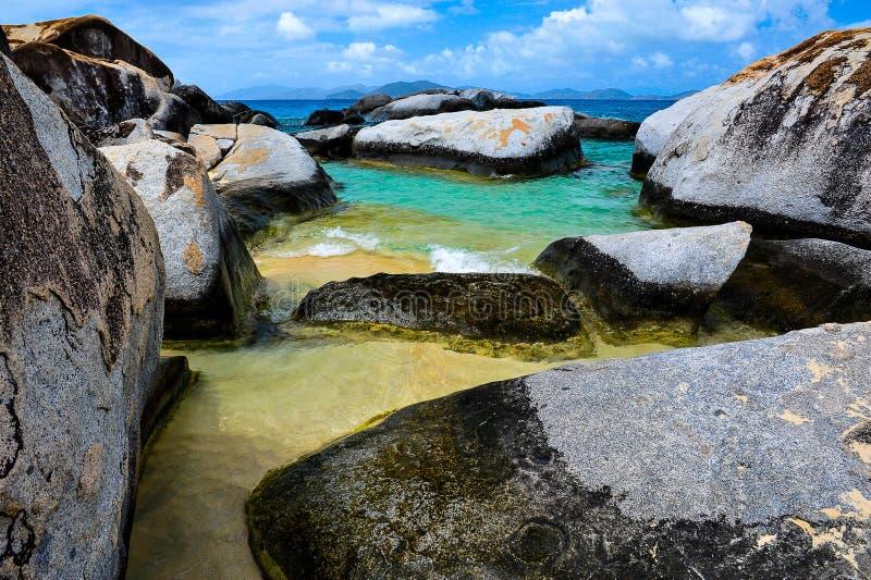 Virgin Gorda, Ilhas Virgens britânicas fotografia de stock