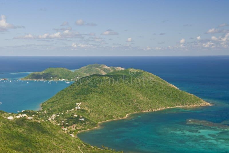 Virgin Gorda Island scenery royalty free stock image