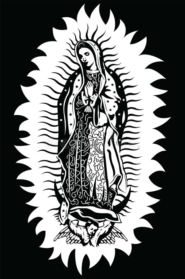 The Virgin Of Guadalupe Vector Stock Vector