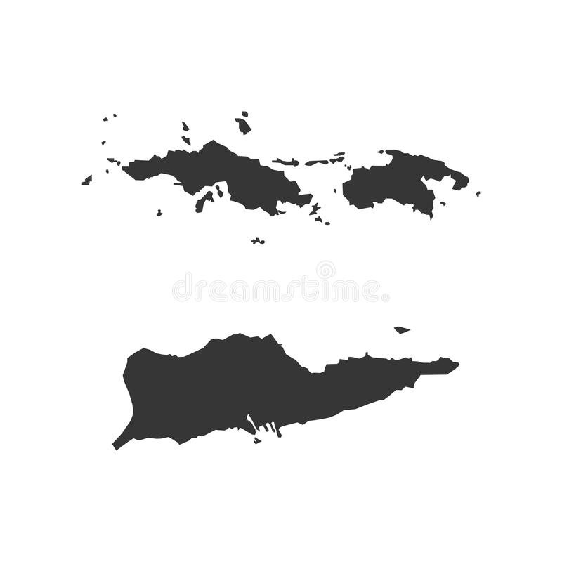 download virgin islands of the united states map silhouette illustration stock vector illustration of island