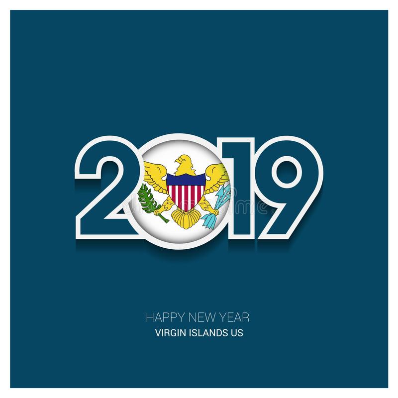 2019 Virgin Islands US Typography, Happy New Year Background royalty free illustration