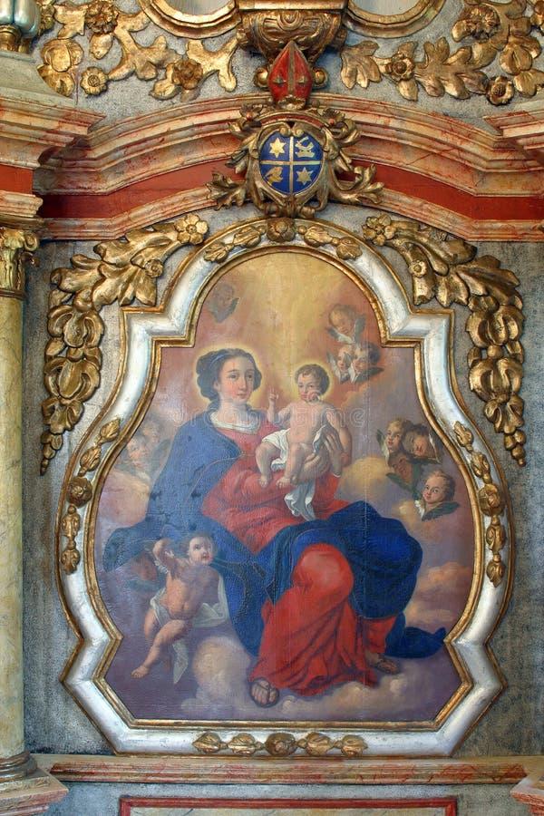 virgin jesus mary младенца стоковое изображение rf