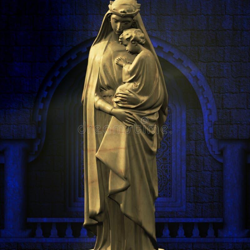 Virgin Mary με τον Ιησού στοκ εικόνα με δικαίωμα ελεύθερης χρήσης