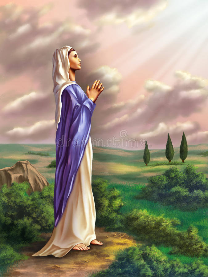 Virgin Mary royalty illustrazione gratis